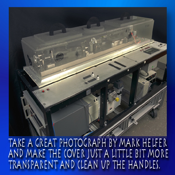 Equipment -- take a great photograph by Mark Helfer and make the cover just a little bit more transparent and cleaned up the handles.